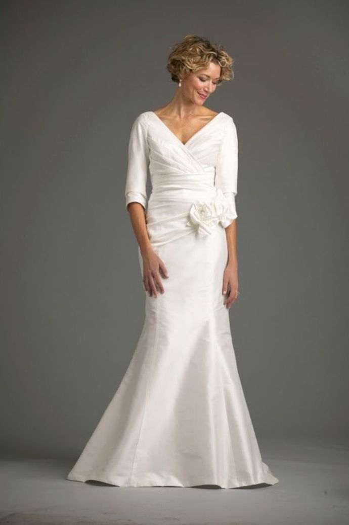10 wedding gowns perfect for women over 50 second wedding Wedding Dresses For Seniors