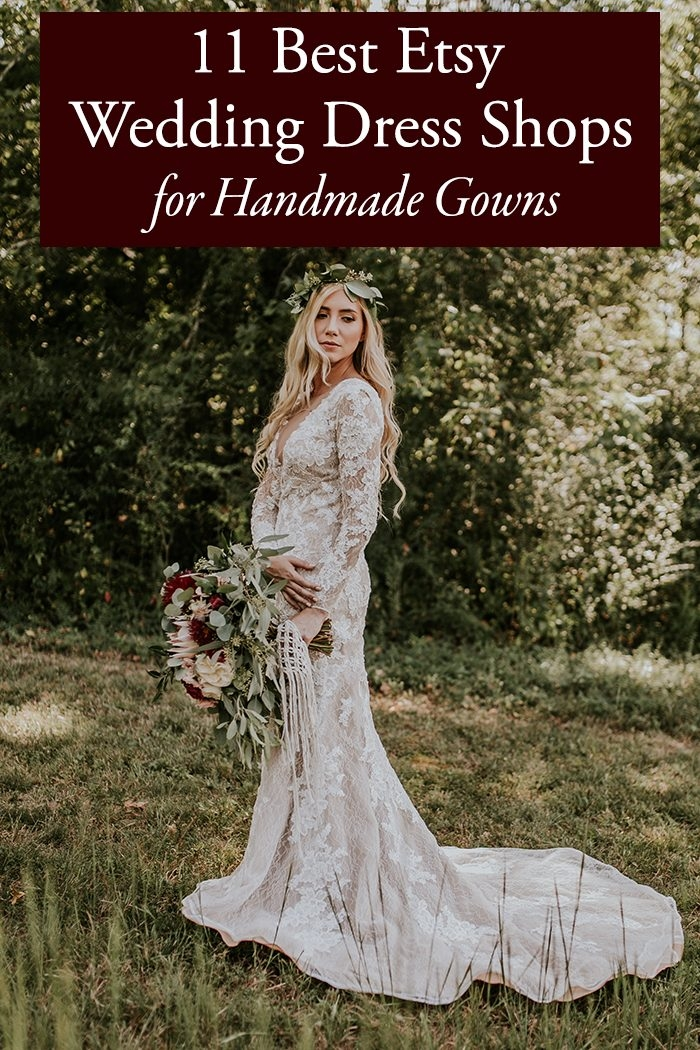 11 best etsy wedding dress shops for handmade gowns The Vow Wedding Dress Store
