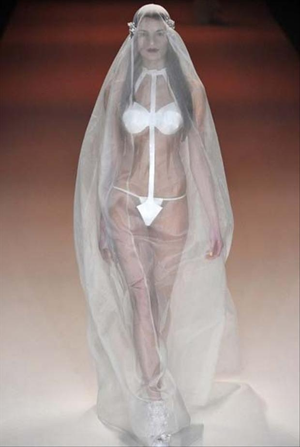19 of the most bizarre wedding dresses ever worn Most Outrageous Wedding Dresses