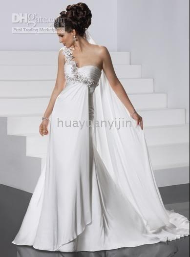 2011 newest style white one shoulder greek goddess chiffon wedding dressesbridal gown medieval wedding dresses most expensive wedding dress from Greek Goddess Wedding Dresses