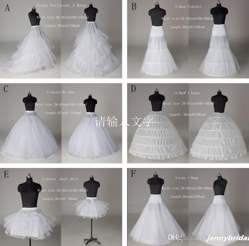 2015 net skirt wedding dress tulle petticoats 6 styles crinoline girls petticoat crinoline slip underskirt hoops plus sizeknee length mini petticoat Crinoline Skirt For Wedding Dress