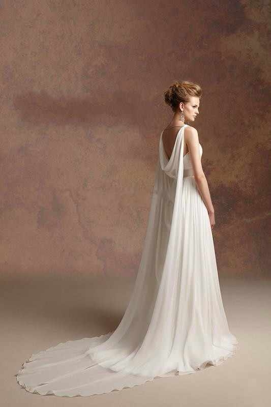 2019 hot sale greek goddess a line chiffon beach wedding dresses simple cheap with beaded sash detachable straps bridal gowns Greek Goddess Wedding Dresses