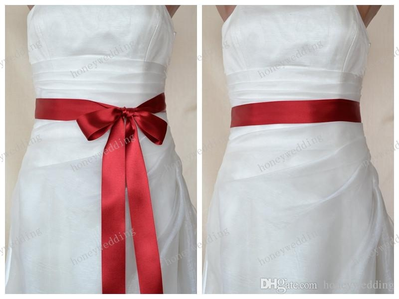 2019 red double faced satin ribbon wedding dress sash belt from honeywedding 531 dhgate Wedding Dress Sashes And Belts