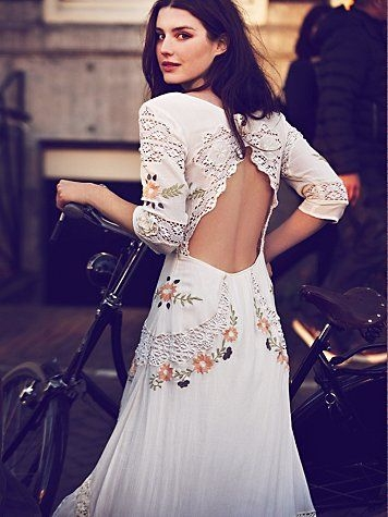 3 free people rehearsal cookout my style mexican Embroidered Mexican Wedding Dress