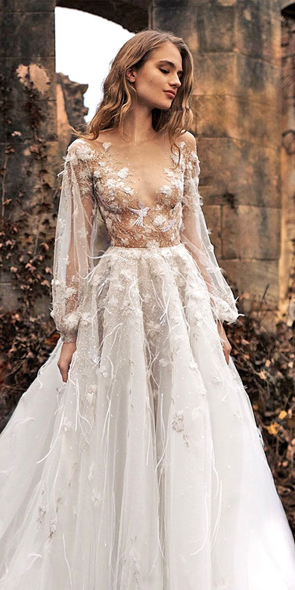 36 ultra pretty floral wedding dresses for brides wedding Prettyco Wedding Dress