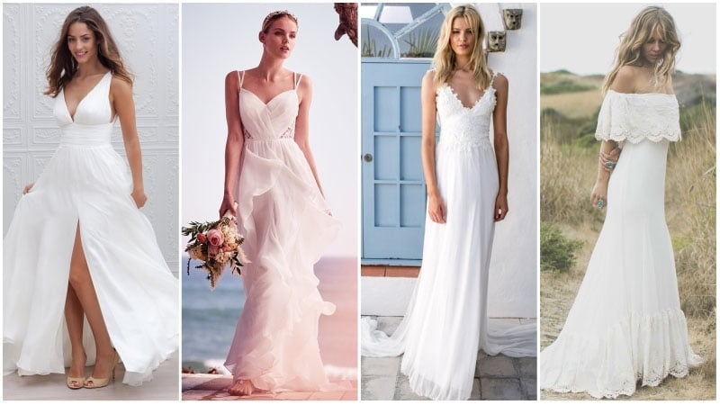 40 unforgettable beach wedding dresses for your special day Informal Beach Wedding Dresses Casual