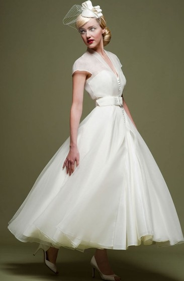 50s style wedding dresses tea length on sale june bridals Fifties Style Wedding Dress