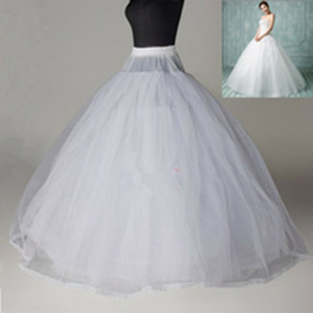 8 layer white crinoline petticoat no hoop ball gown wedding dress underskirt Crinoline Skirt For Wedding Dress