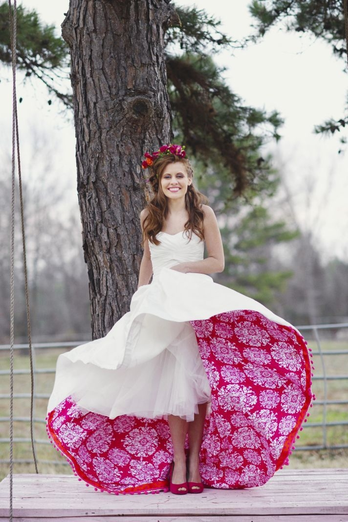 a colored petticoat is a wonderful unexpected way to add Colored Petticoats For Wedding Dresses