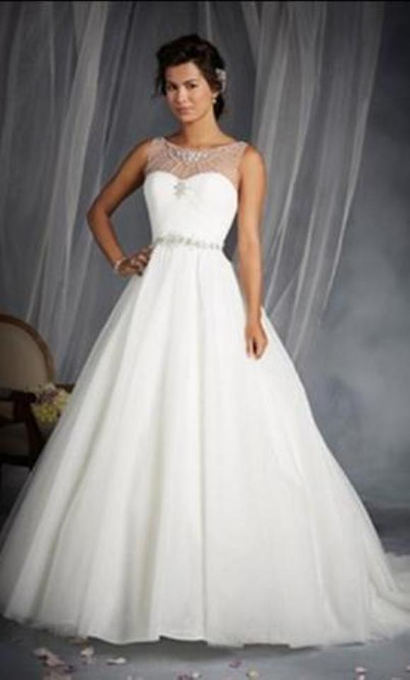 alfred angelo white silver shimmer tulle disney princess cinderella 244 formal wedding dress size 12 l 63 off retail Disney Wedding Dresses Alfred Angelo