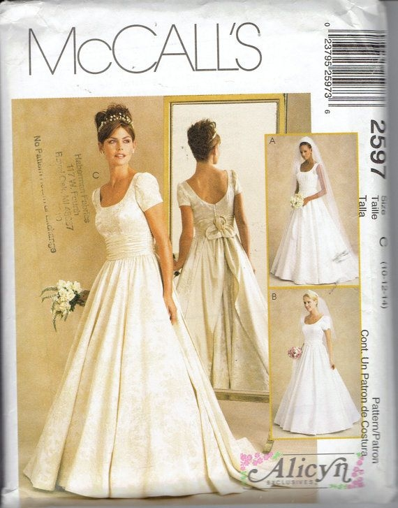 alicyn bridal gown wedding dress pattern mccalls 2597 scoop Mccall Wedding Dress Patterns