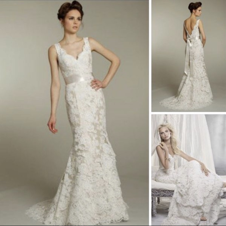 alvina vaenta alvina valenta alencon lace size 14 bridal gown size 14 only 250000 Alencon Lace Wedding Dress