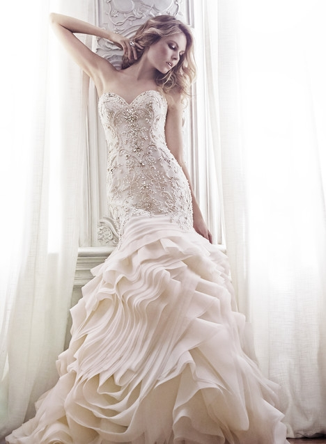 aurora soft blush wedding dress maggie sottero the Maggie Sottero Blush Wedding Dress