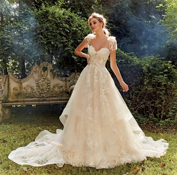 ball gown embroidered wedding dress Eve Of Milady Wedding Dresses