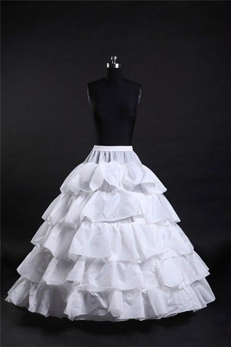 ball gown tiered hooped ruffle wedding bridal crinoline Crinoline Skirt For Wedding Dress