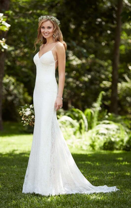 beach wedding dress with low back stella york wedding dresses Wedding Dresses With Low Backs