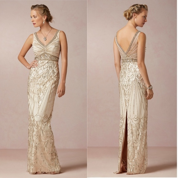 bhldn maxine gats sue wong wedding gown dress 6 nwt Sue Wong Wedding Dresses