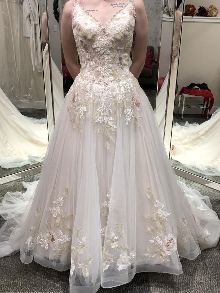 bonny bridal moscato lace tulle 722 traditional wedding dress size 2 xs 60 off retail Bonny Wedding Dress