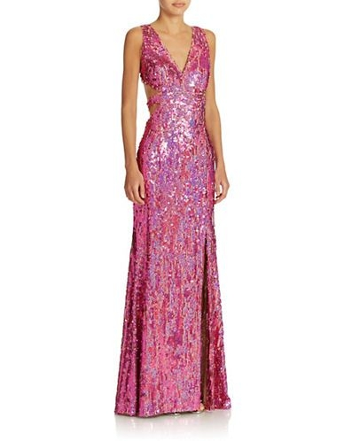 brands formalevening sequined cutout gown lord and Lord And Taylor Dresses For Weddings