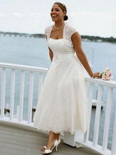 cheap plus size wedding dresses under 100 tea length Wedding Dresses Under 100.00