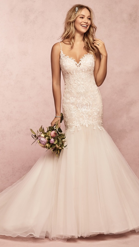colored wedding dresses and gowns maggie sottero designs Maggie Sottero Blush Wedding Dress