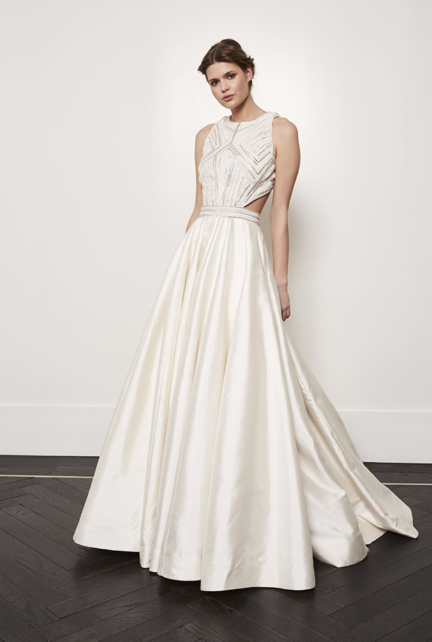 contemporary grecian glamour amanda wakeley wedding dresses Amanda Wakeley Wedding Dress