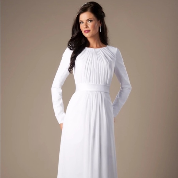 custom made lds temple sealing wedding dress boutique Lds Temple Wedding Dresses