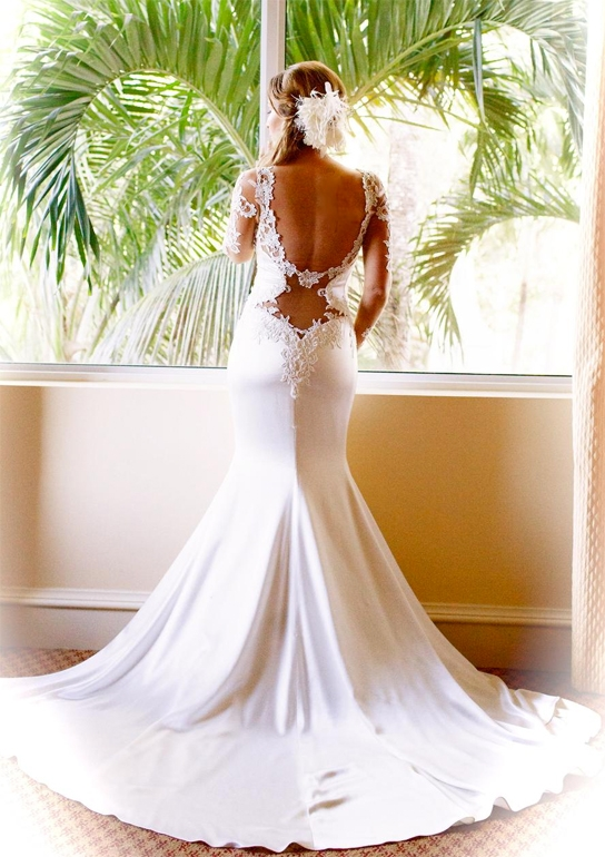 daring open back wedding dresses preowned wedding dresses Previously Owned Wedding Dresses