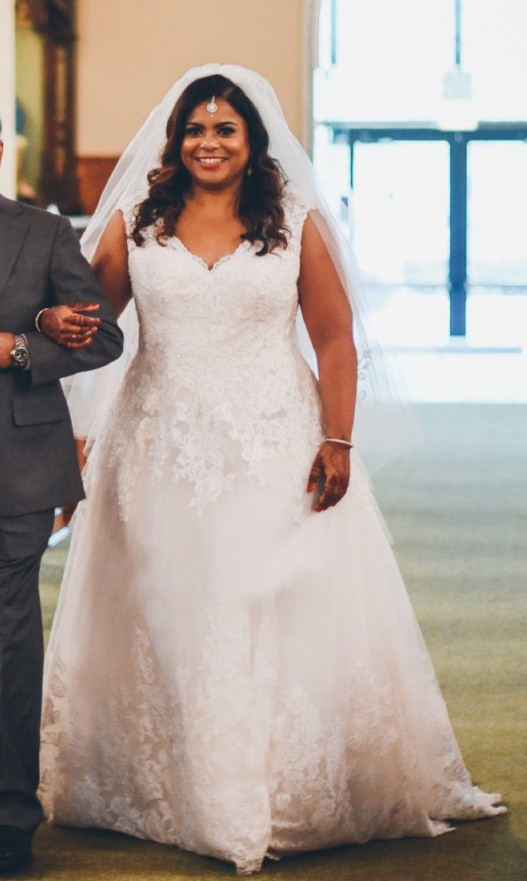 davids bridal collection scalloped lace and tulle plus size wedding dress wedding dress on sale 55 off Davids Bridal Plus Size Wedding Dresses