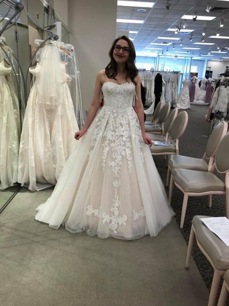davids bridal nwt lace and tulle a line ball gown size 8 bridal gown size 8 only 60000 Davids Bridal Pretty Wedding Dresses