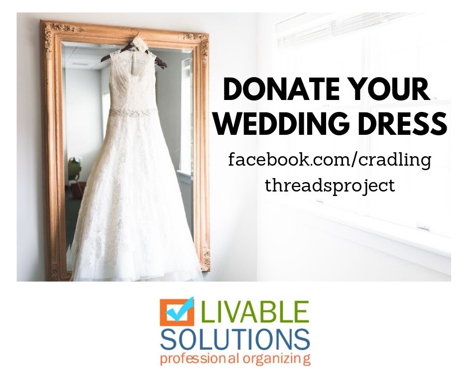 day eight 40 bags in 40 days decluttering challenge Donating A Wedding Dress