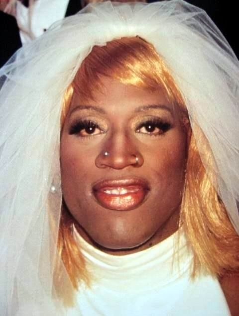 dennis rodman wedding dress dennis rodman wedding dress Dennis Rodman In A Wedding Dress