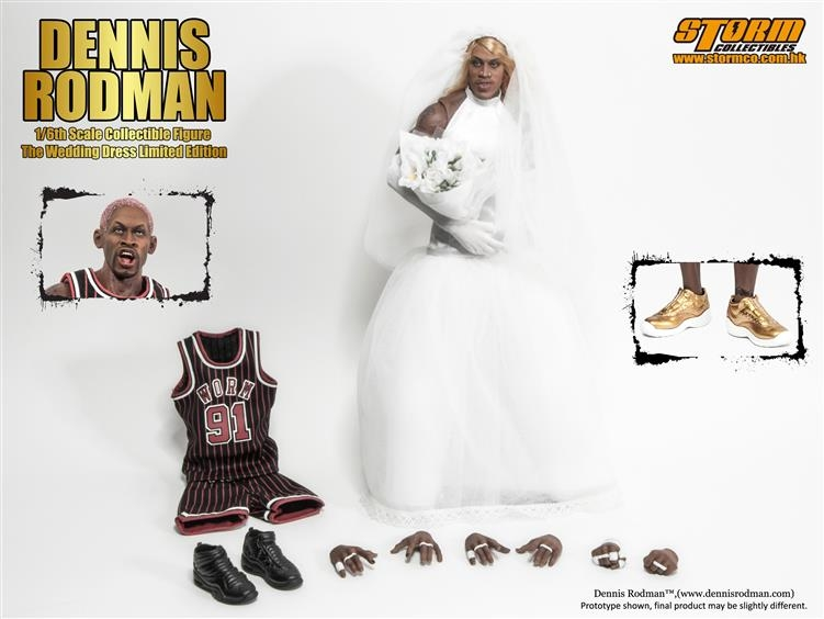 dennis rodman wedding dress limited edition 16 scale Dennis Rodman In A Wedding Dress