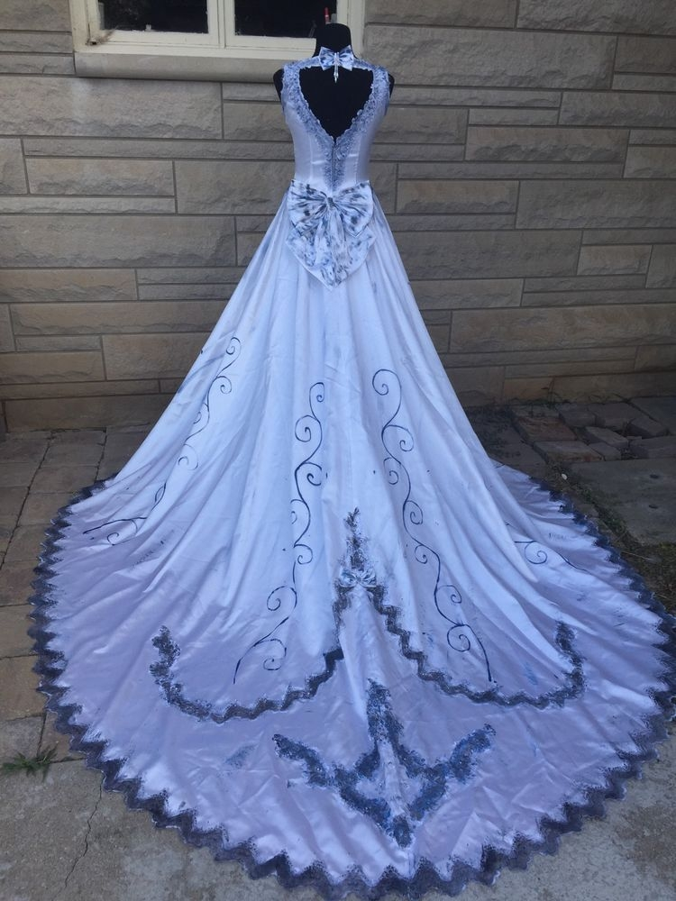 details about ladies halloween day of the dead zombie corpse Corpse Bride Wedding Dress