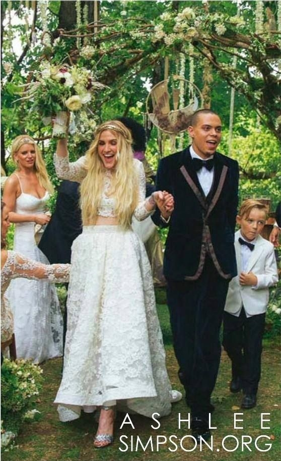 did ashlee simpson start a new trend in wedding dresses Ashlee Simpson Wedding Dress