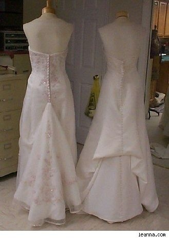 directions for french bustle for wedding dress wedding Wedding Dress Alterations Dc