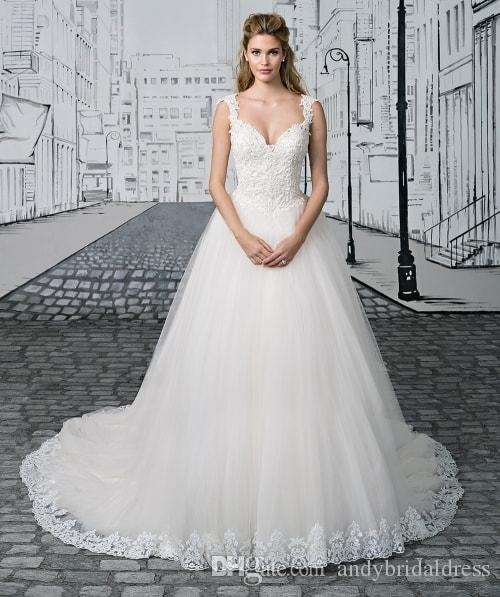 discount vintage straps a line wedding dress 2019 vestidos de noiva basque waist appliqued princess wedding gowns bridal dress with lace hem buy Basque Waist Wedding Dress