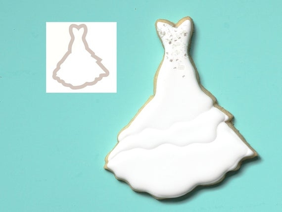 dress cookie cutter wedding dress cookie cutter bridal shower cookie cutters 0126 Wedding Dress Cookie Cutter