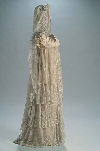 early 1800s spanish wedding gown and mantilla wow maybe 1800s Wedding Dresses