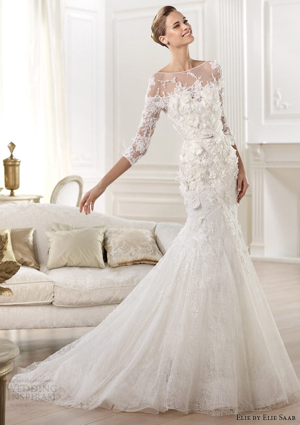elie elie saab bridal 2014 collection for pronovias Elie Saab Wedding Dress