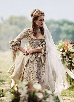 elizabeth swann keira knightley pirates of the caribbean Elizabeth Swann Wedding Dress