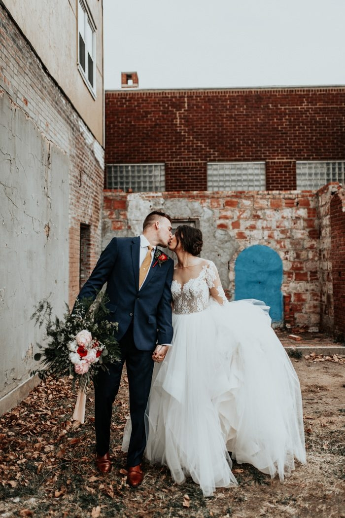 enchanting industrial tulsa wedding at the pearl district Tulsa Wedding Dresses