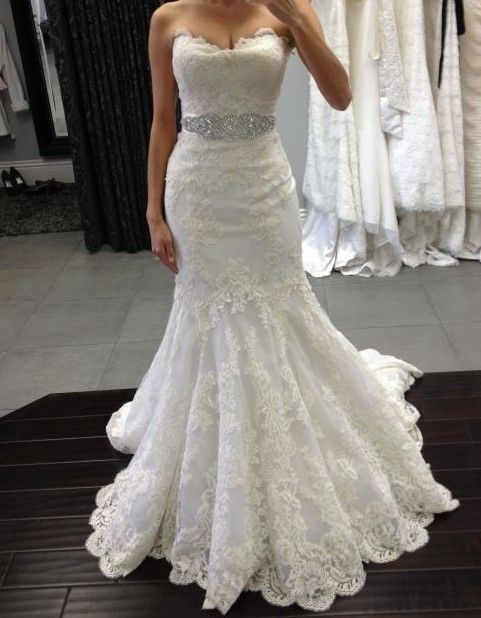 enzoani dakota lace mermaid wedding dress lace weddings Enzoani Dakota Wedding Dress