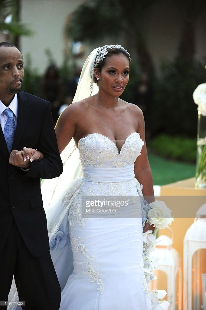 evelyn lozada walks down the aisle during her wedding to Evelyn Lozada Wedding Dress