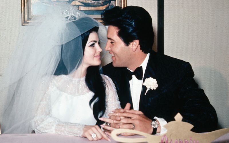 every detail of priscilla presleys 1967 wedding ensemble is Priscilla Presley Wedding Dress