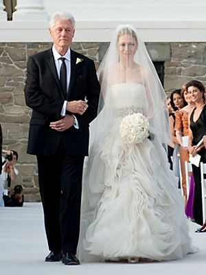 extravagant celebrity weddings chelsea clinton wedding at Melissa Rivers Wedding Dress