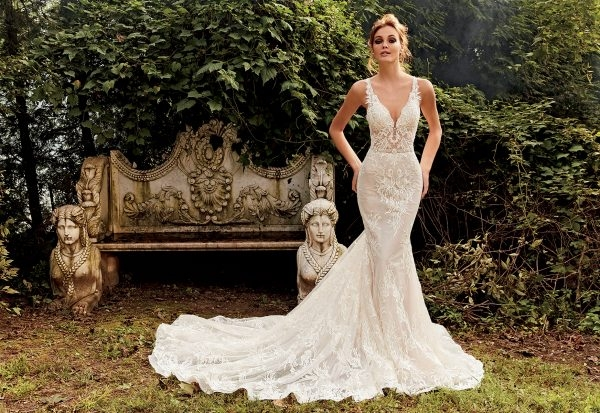 fit and flare sequin wedding dress Eve Of Milady Wedding Dress