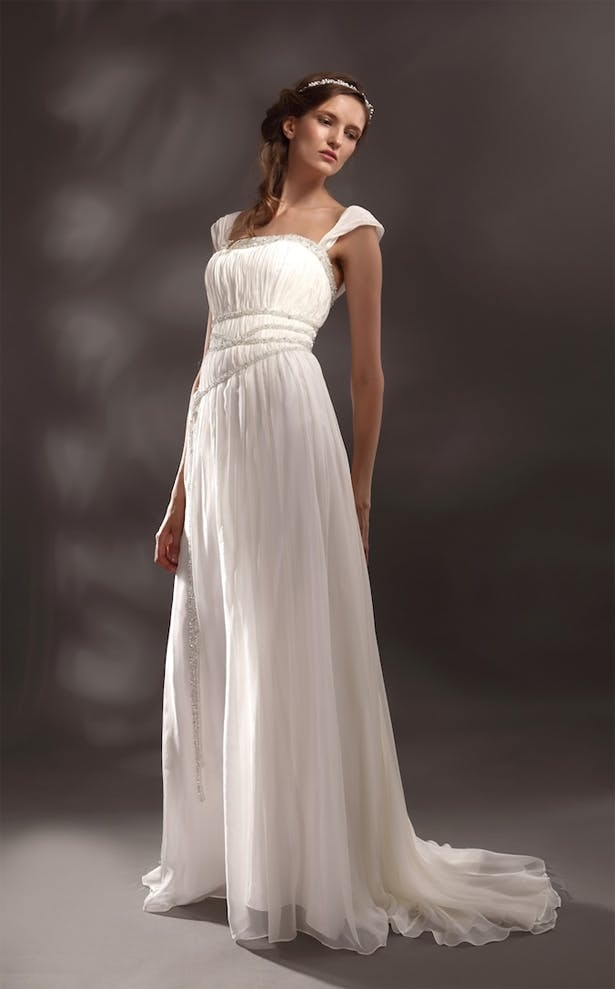 greek goddess style wedding dresses confetticouk Greek Goddess Wedding Dresses