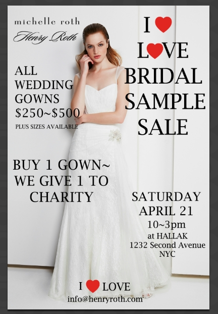 hallak cleaners blow out bridal sample sale held at hallak Wedding Dress Sample Sale Nyc