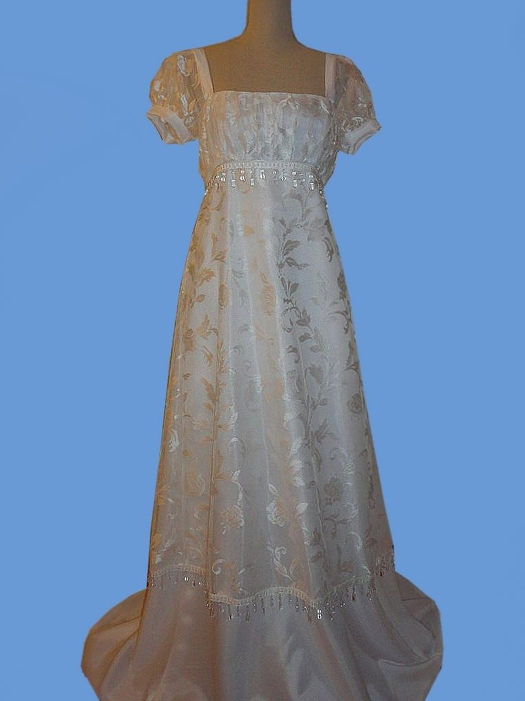 hand crafted early 1800s regency bridal dress or 1800s Wedding Dress